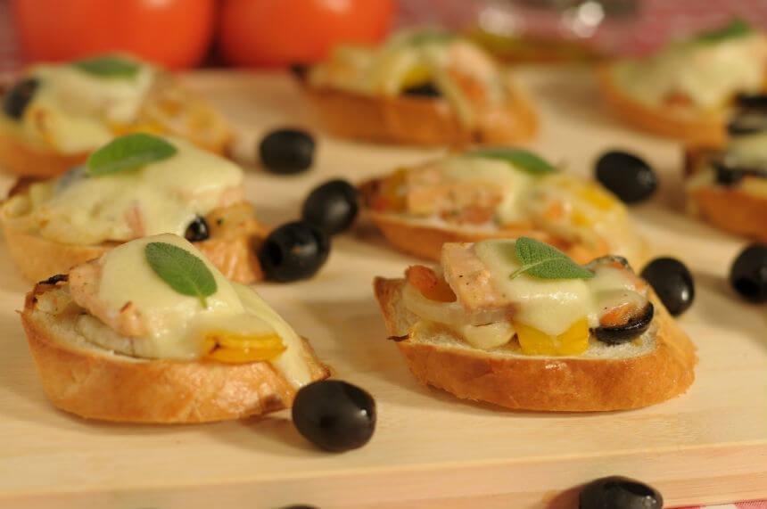 Bruschette s lososom - Fini Recepti