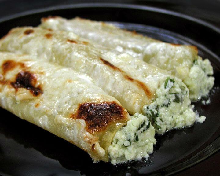 Cannelloni sa svježim špinatom i sirom
