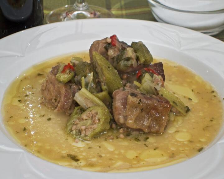 Bamije s janjetinom iz pećnice - Fini Recepti