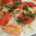 Basmati riža s rajčicama i morskim kozicama