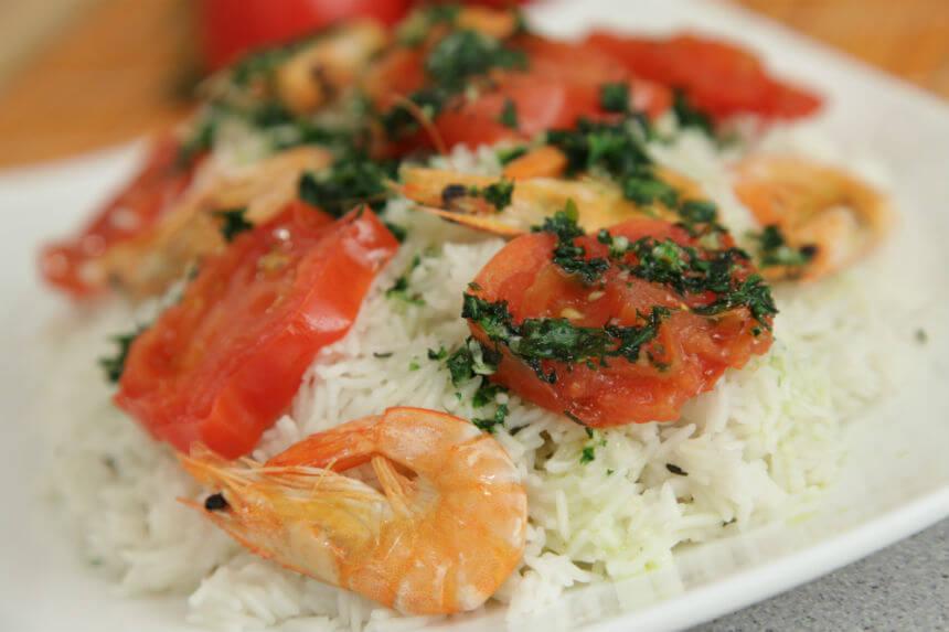 Basmati riža s rajčicama i morskim kozicama - Fini Recepti by Crochef