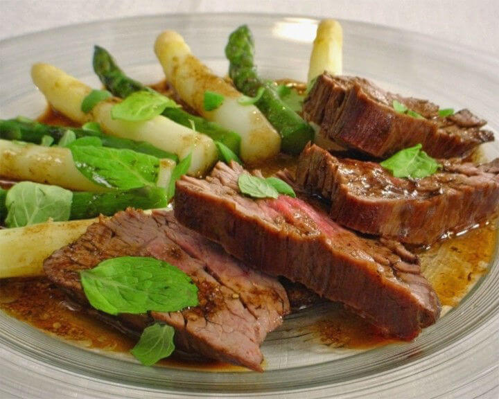 Biftek i šparoge na balzamičkom octu