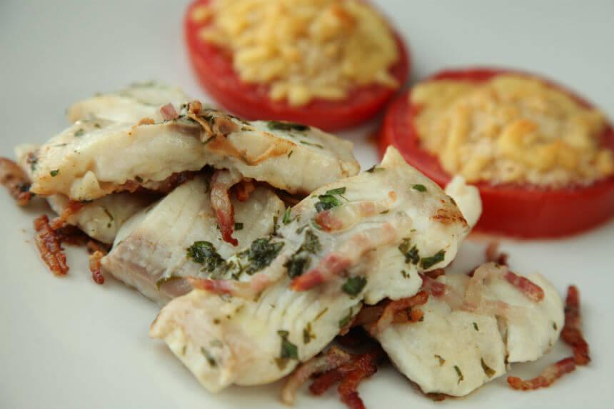 Fileti bijele ribe s gratiniranom rajčicom - Fini Recepti by Crochef