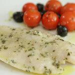 Fileti bijele ribe s mini rajčicama iz pećnice