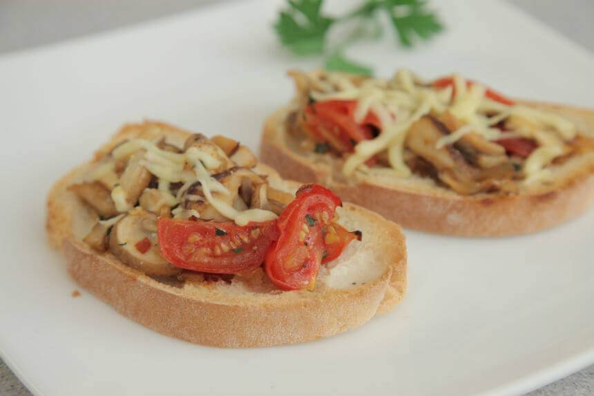 Bruschette s gljivama i sirom - Fini Recepti by Crochef