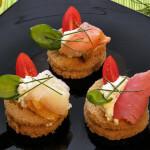 Canapei od dimljenog iverka, lososa i tune - Fini Recepti