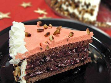 Čokoladna torta s pinjolima i ribizlima