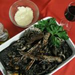 Crni rižoto od morskih plodova