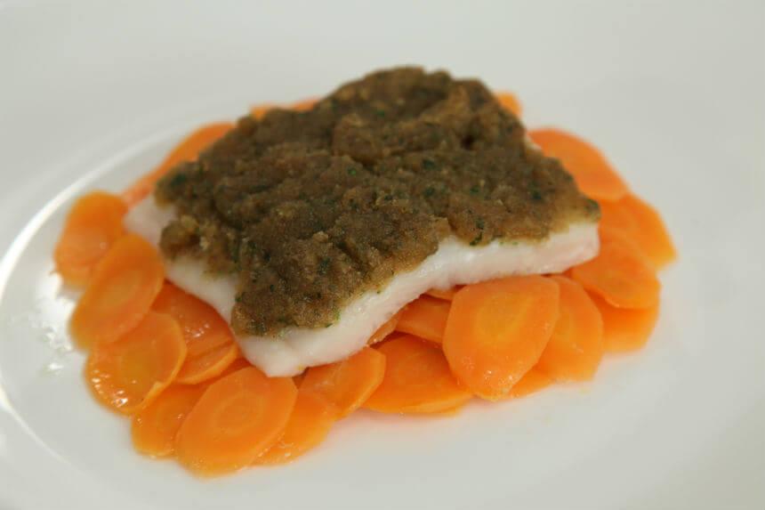 Gratinirani file bijele ribe na posteljici od mrkve - Fini Recepti by Crochef