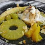 Flambirano voće u woku