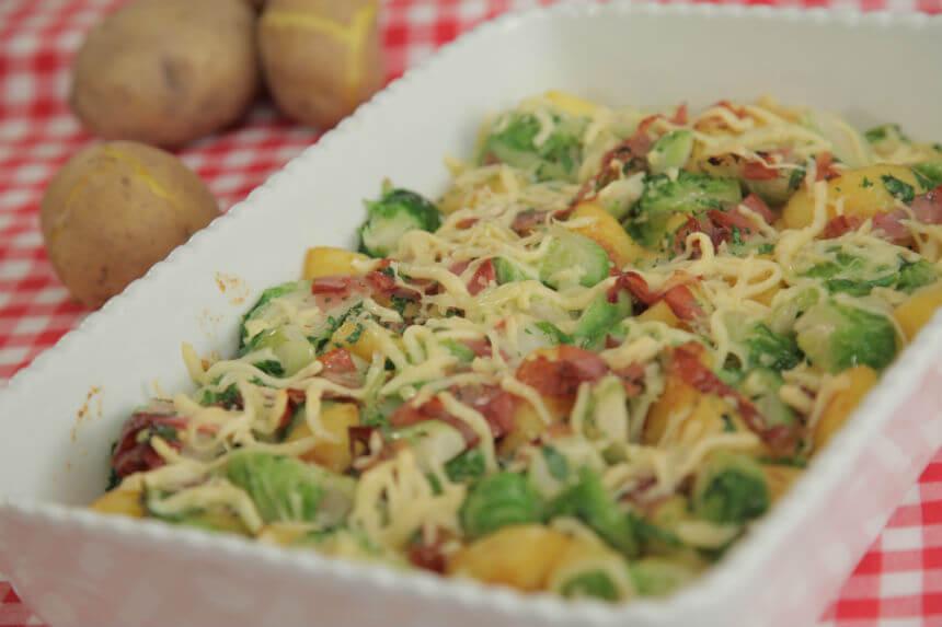 Gratinirani krumpir s prokulicama i pršutom - Fini Recepti by Crochef