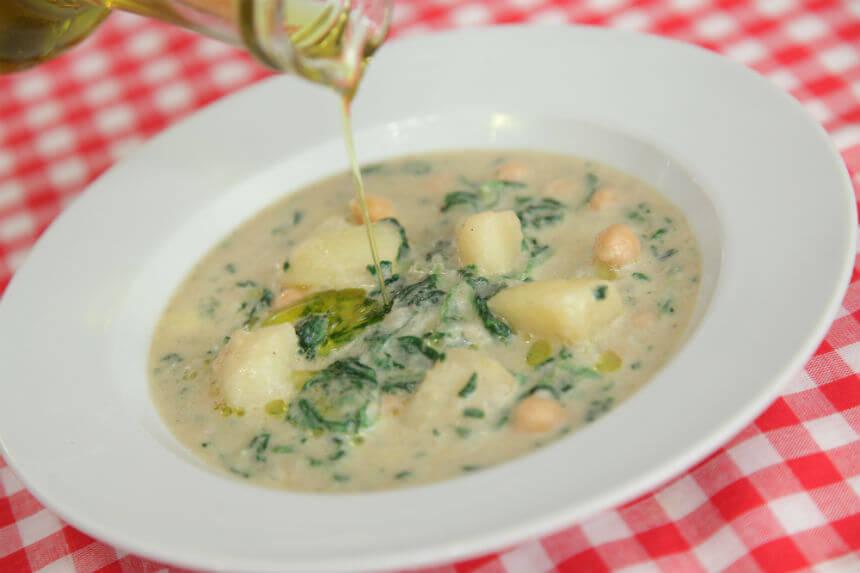 Gusta juha od krumpira, špinata i slanutka - Fini Recepti by Crochef