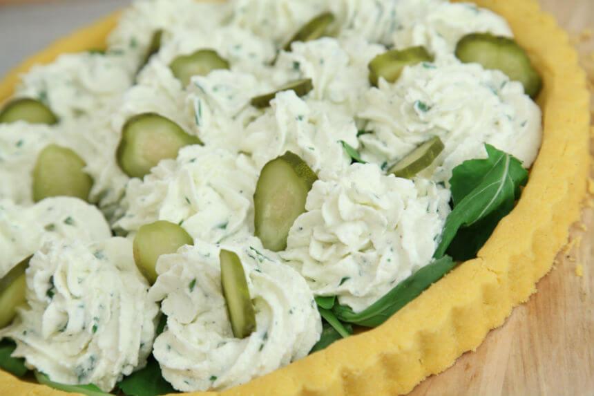 Hladni kolač s rukolom i sirom - Fini Recepti by Crochef