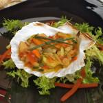 Jakobove kapice s povrćem iz woka