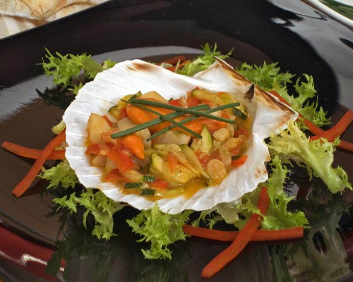 Jakobove kapice s povrćem iz woka - Fini Recepti