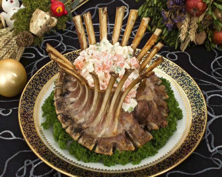 Janjeća krunska pečenka s francuskom salatom - Fini Recepti