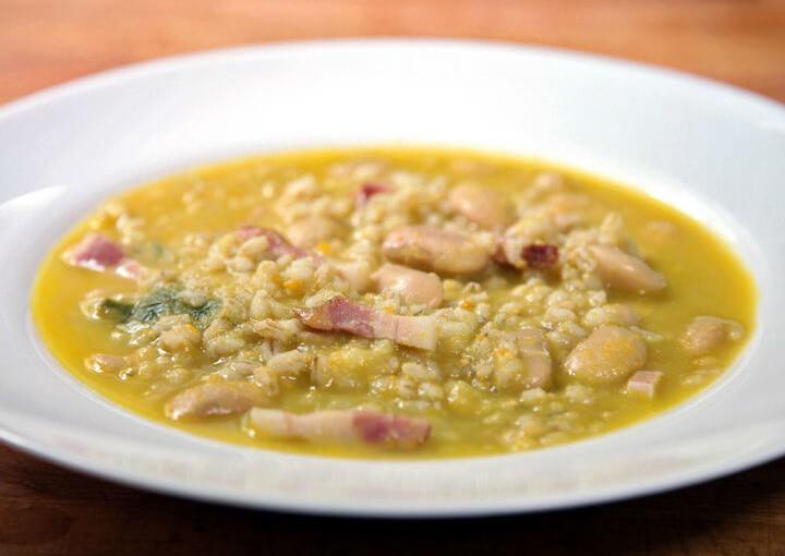 Gusta juha od ječma i graha