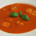 Juha od rajčice s repovima morskih kozica - Fini Recepti by Crochef