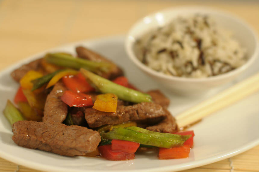 Juneći filet s povrćem i divljom rižom - Fini Recepti