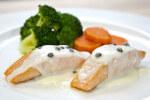 File lososa s povrćem i umakom od zelenog papra