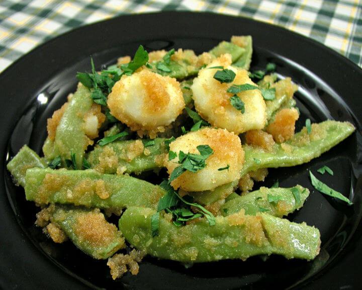 Abšmalcane mahune s mladim krumpirom