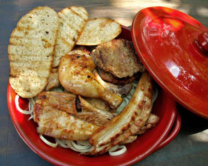 Miješano meso na žaru u brzoj marinadi