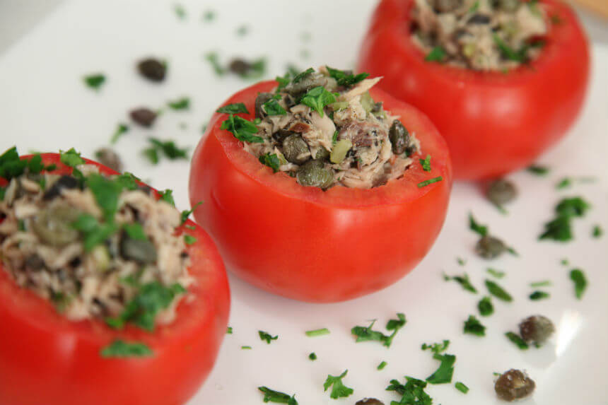 Nadjevene rajčice na primorski način - Fini Recepti by Crochef