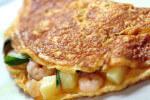 Omlet s morskim kozicama i krumpirom