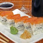 Oshi sushi s lososom