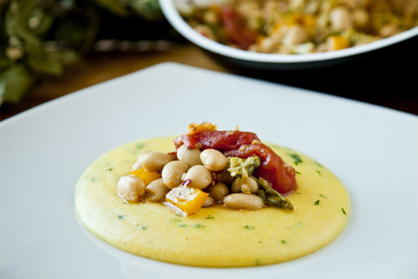 Palenta s bijelim grahom i keljom - Fini Recepti by Crochef