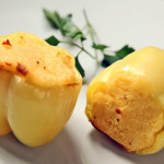 Paprike punjene s krumpirom i kajmakom