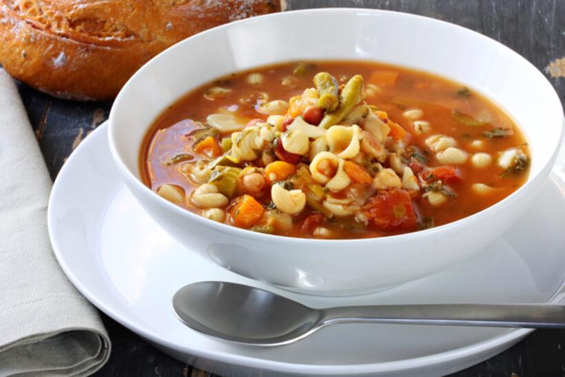 pasta fazol s povrcem