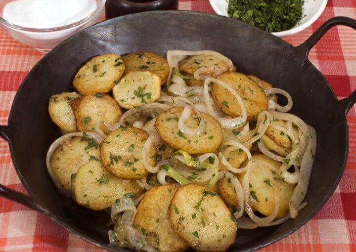 Pečeni krumpir na lyonski način