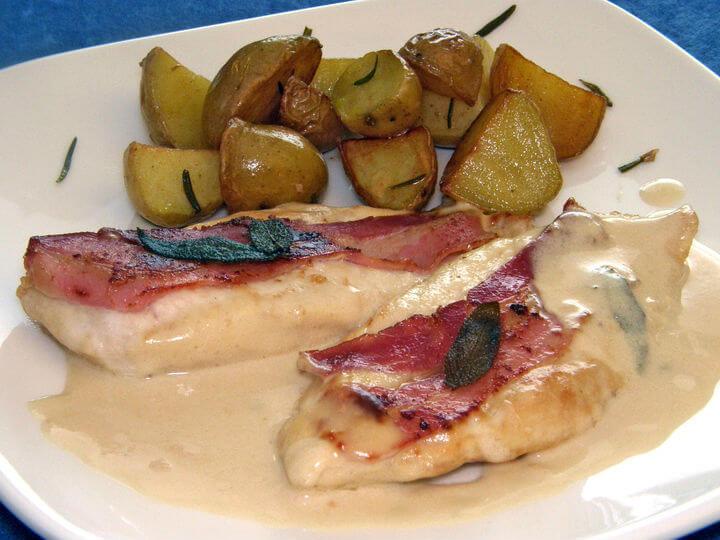 Piletina s pancetom alla saltimbocca - Fini Recepti