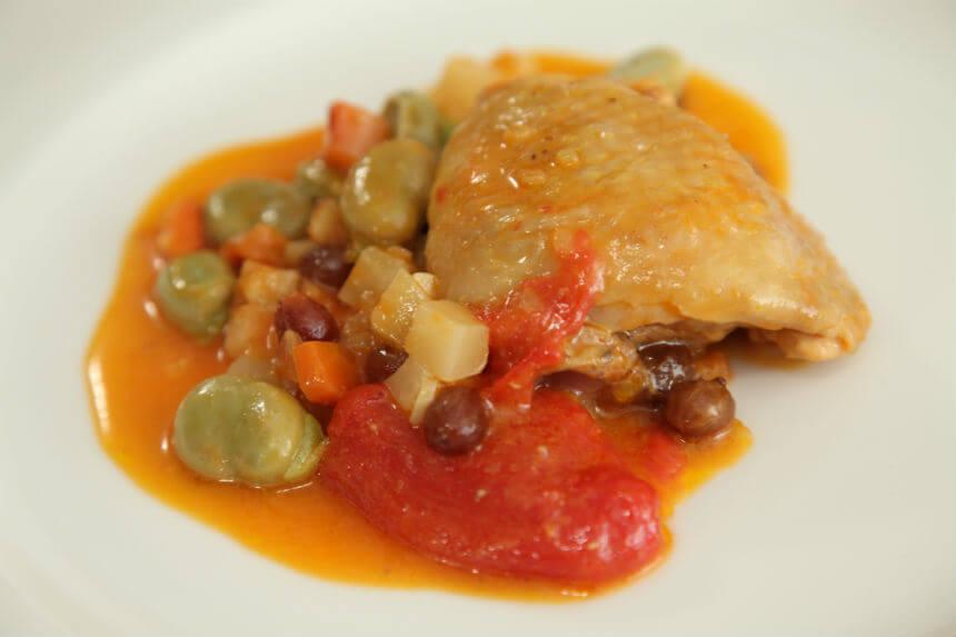 Piletina s mladim bobom - Fini Recepti by Crochef