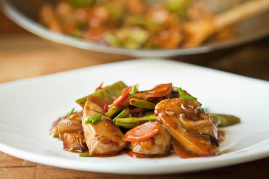 Piletina sa shiitake gljivama i povrćem iz woka - Fini Recepti by Crochef