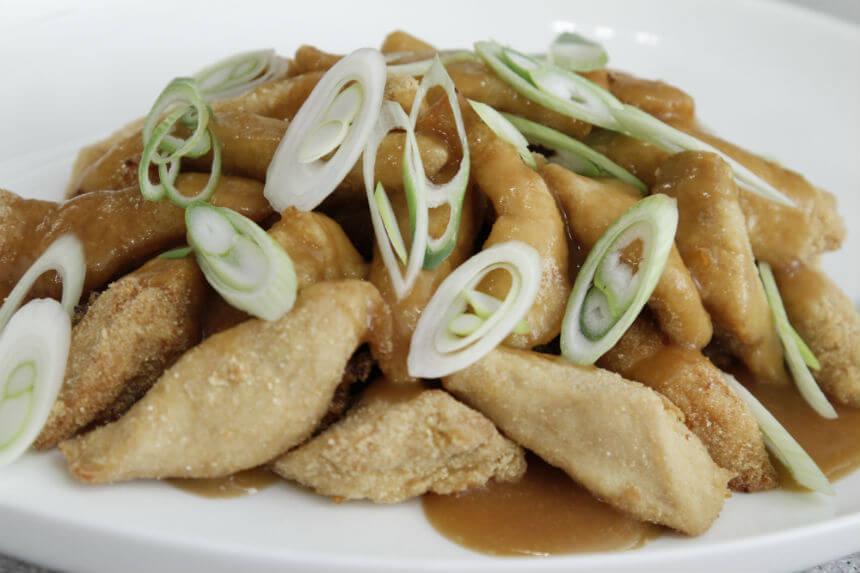 Hrskava piletina s umakom od limuna i mladim lukom - Fini Recepti by Crochef