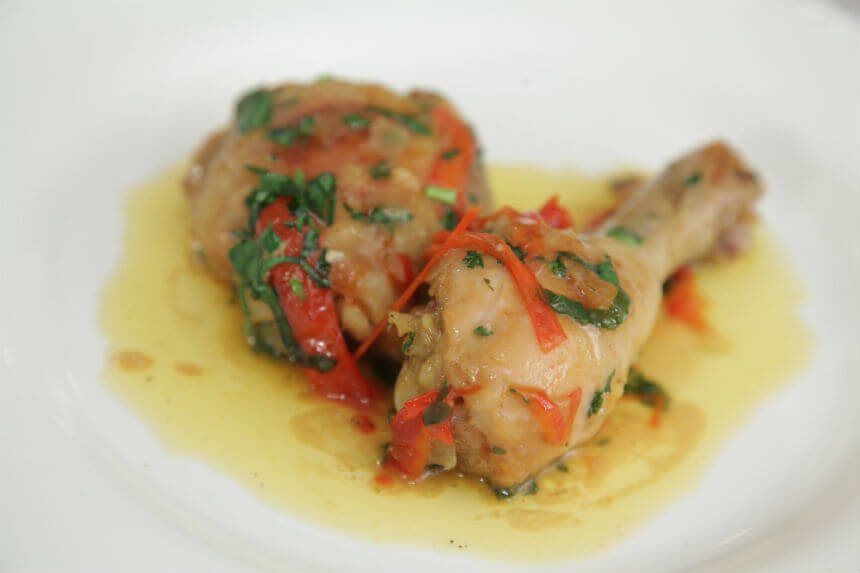 Piletina u kokosovom mlijeku s paprikama i rajčicom - Fini Recepti by Crochef