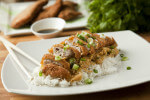 Katsudon - pohana svinjetina s rižom na japanski način