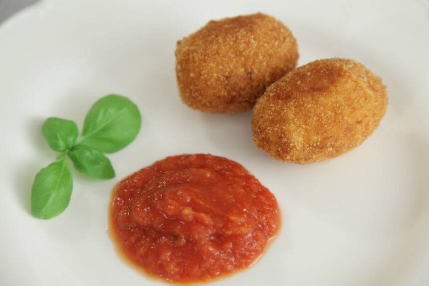 Suppli - talijanski valjušci od riže - Fini Recepti by Crochef