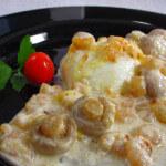 Poširana jaja u raguu od morskih kozica