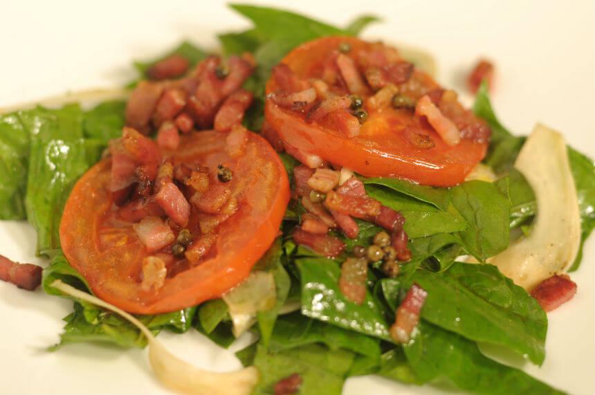 Topla povrtna salata sa slaninom - Fini Recepti by Crochef