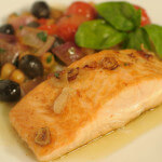 Prženi losos s povrćem