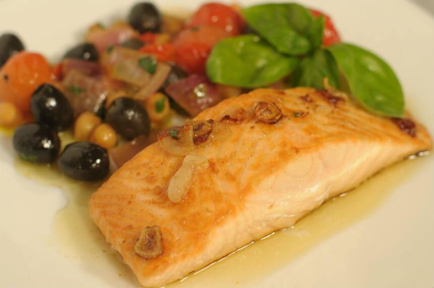 Prženi losos s povrćem - Fini Recepti by Crochef