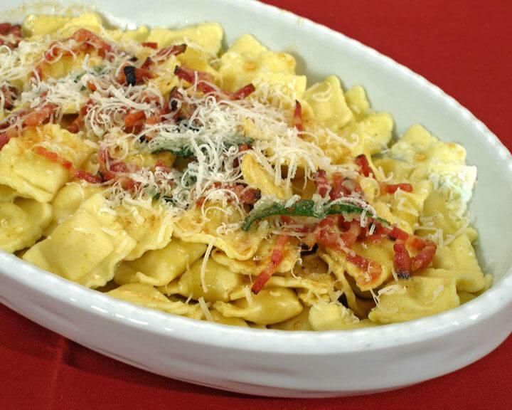 Ravioli s kaduljom i pancetom - Fini recepti