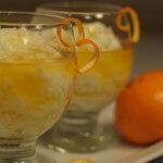 Riža na mlijeku s umakom od naranče