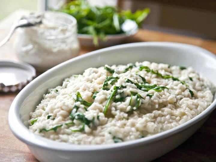 Rižoto s bakalarom na bijelo i rukolom - Fini Recepti by Crochef
