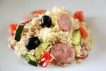 Pikantna riža s kobasicama i povrćem