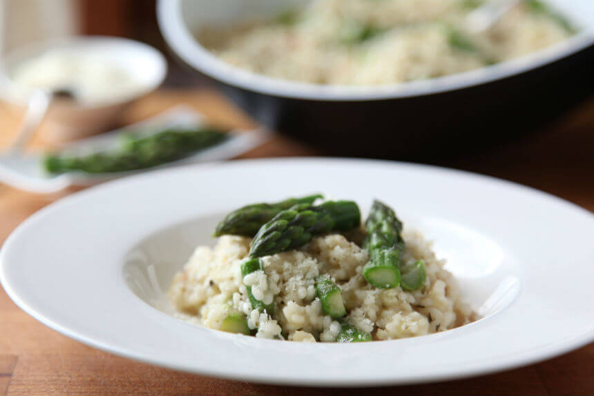 Rižoto s pancetom, porilukom i šparogama - Fini Recepti by Crochef