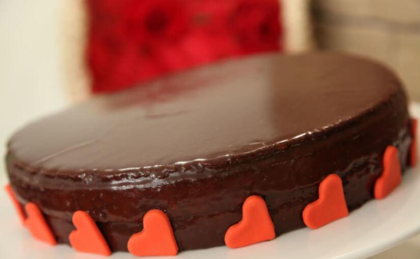 Sacher torta za Valentinovo